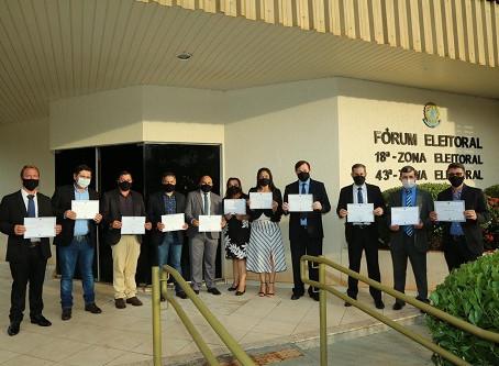Prefeito, vice e vereadores eleitos em Laguna Carapã são diplomados