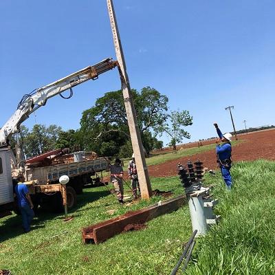 Produtor Rural teve que contratar empresa particular para reestabelecer energia na propriedade