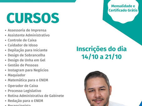 Vereador Vander faz parceria com a escola legislativa e trará cursos ONLINE com mensalidade gratuita