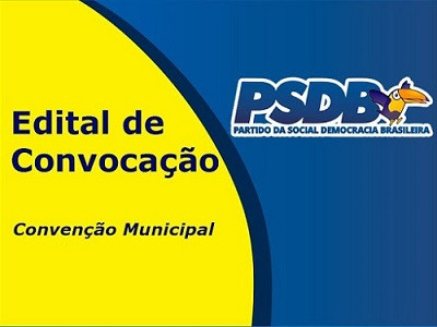 PSDB realiza convenção municipal dia 13 de setembro em Laguna Carapã