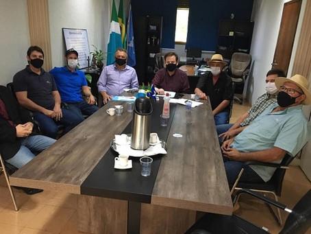 Diretoria do Sindicato Rural apresenta demandas do setor ao prefeito de Laguna Carapã