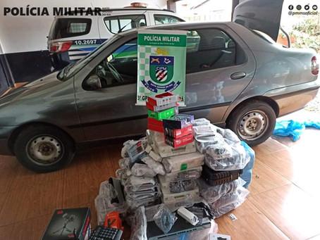 Polícia Militar de Laguna Carapã apreende carga de eletrônicos