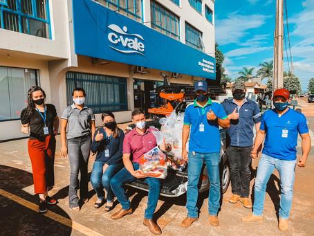 Campanha da Cvale de Laguna Carapã arrecada 700kg de alimentos