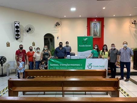 Sicredi Centro-Sul MS entrega mais uma doação em Laguna Carapã