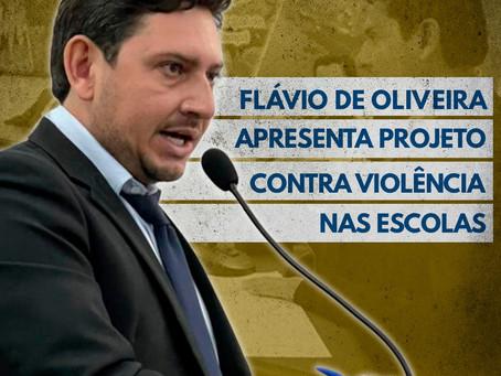 Vereador Flávio de Oliveira busca combater a violência nas escola públicas