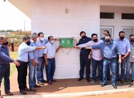 Vereadores participam de inauguração de estação de tratamento de esgoto em Laguna Carapã