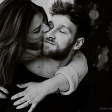 Photographe à Troyes, séance photo de couple en noir et blanc