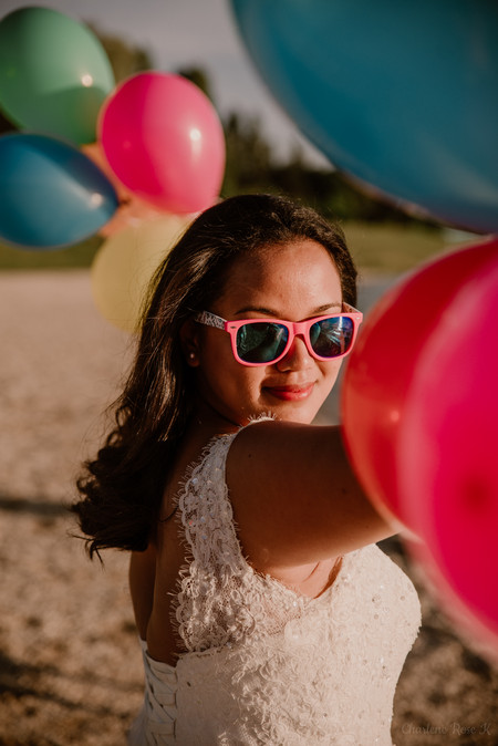 photographe,mariage,troyes,trash,dress,lac,aube,copines,coloré,ballons,fun