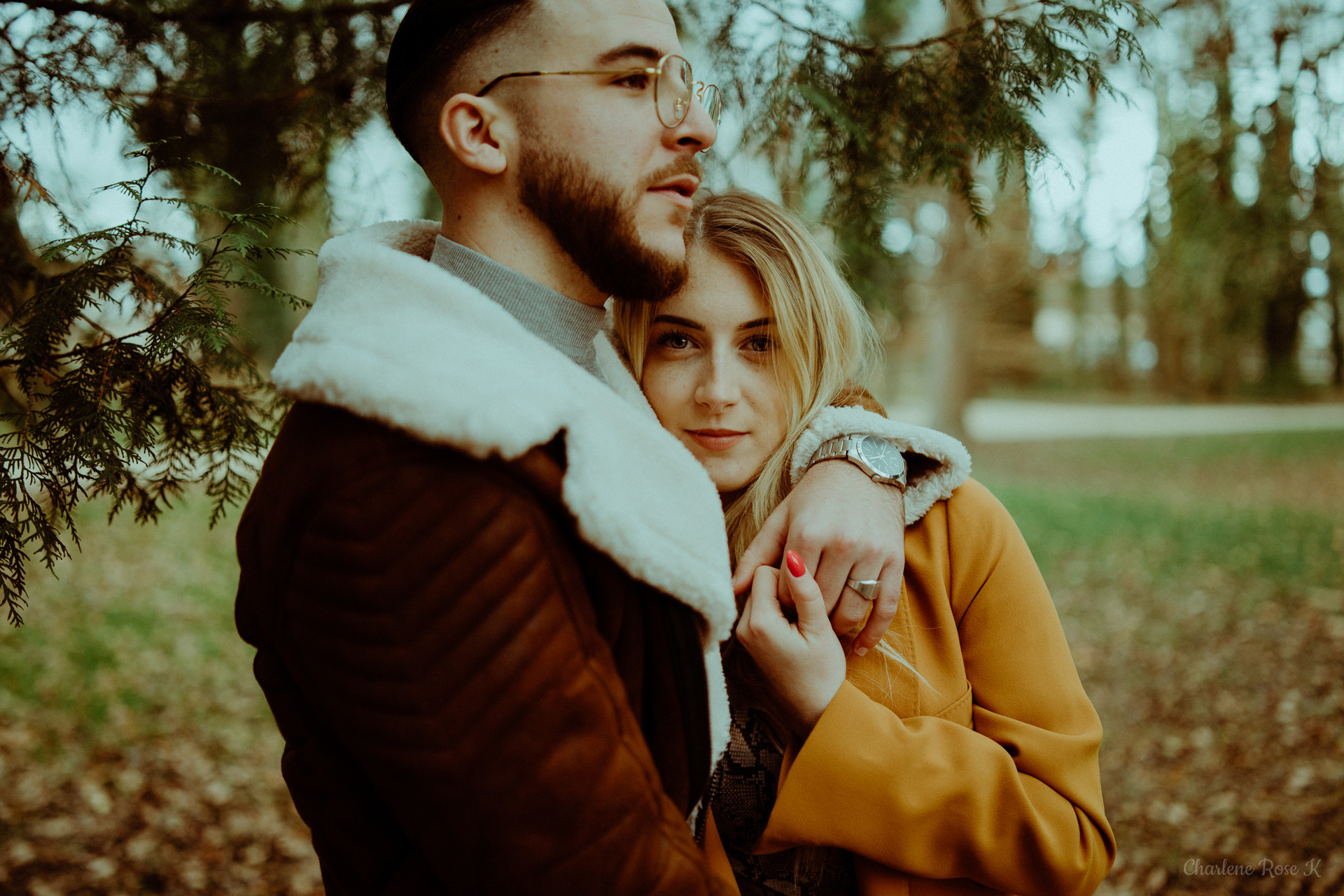 photographe,troyes,couple,lifestyle,amour,forêt,charlene,rose,k