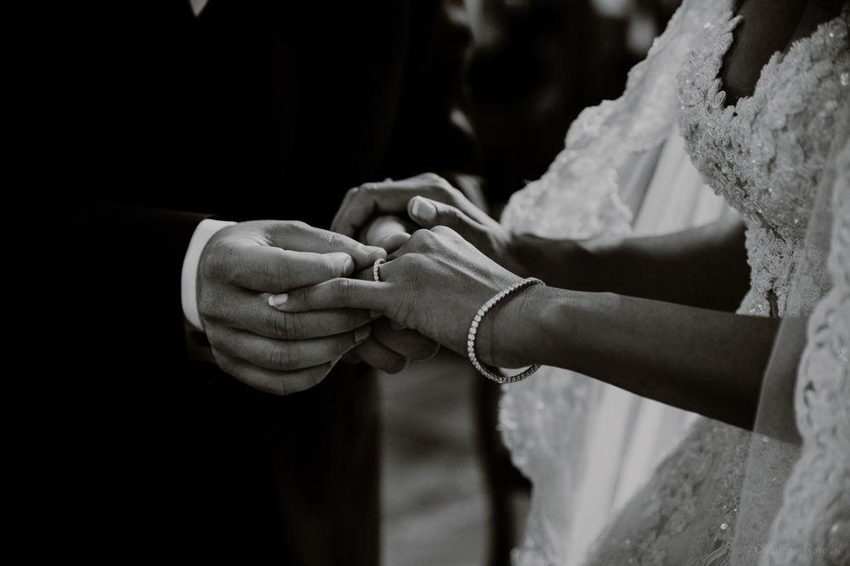 Echange d'alliance lors d'un mariage religieux