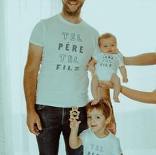 Photographe à Troyes, séance photo naissance nouveau-né père et fils à domicile