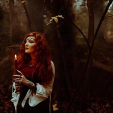 Photographe à Troyes, Portrait de femme mystique et wicca avec bougie