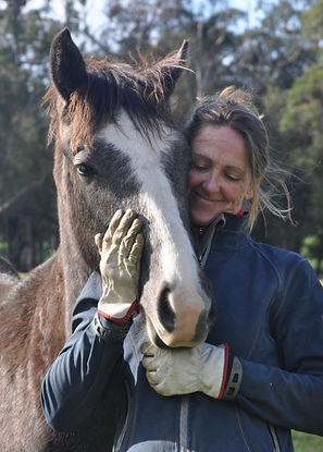 Soo Woods & Cricket, therapy horse