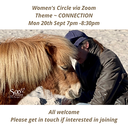 Women's Circle Via Zoom Mon 20th Sept 7pm -830pm All welcome Please get in touch if intere