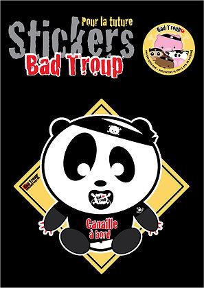 Sticker A4 Panda bébé pour voiture 201424