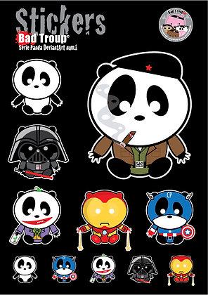 Sticker A4 Série Panda 201417