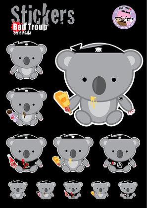 Sticker A4 Série Koala 201415
