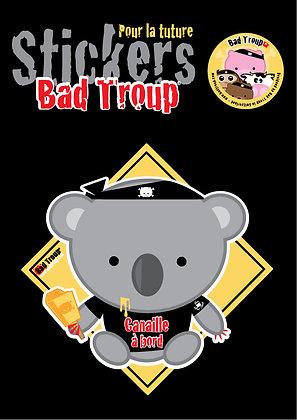 Sticker A4 Koala kid pour voiture  201404