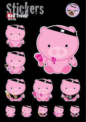 Sticker A4 Série Pig 201418