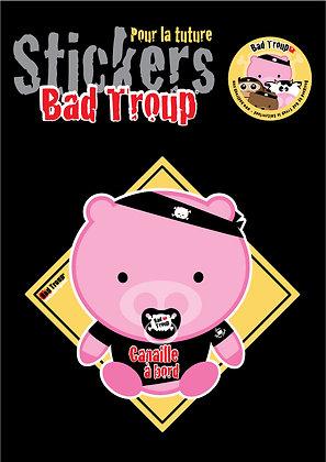 Sticker A4 Pig bébé pour voiture 201411
