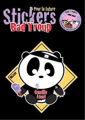 Sticker A4 Panda kid pour voiture 201421