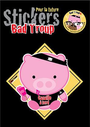Sticker A4 Pig kid pour voiture 201412