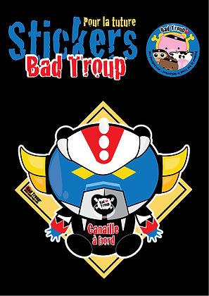 Sticker A4 Bad Goldo kid pour voiture 201423