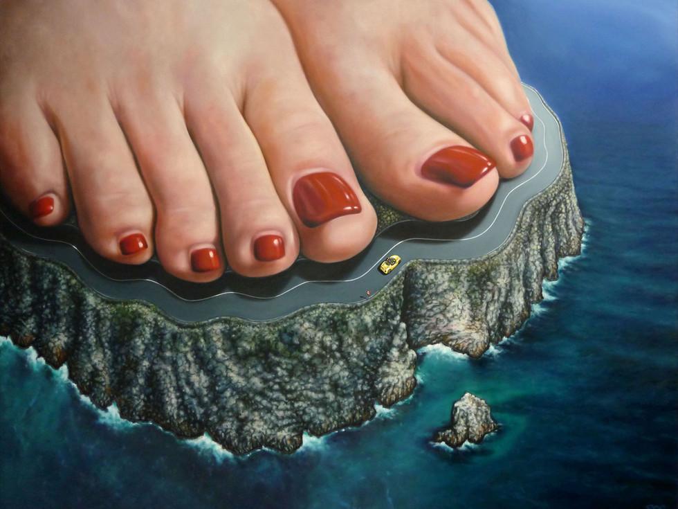 Promenade aux pieds de la falaise