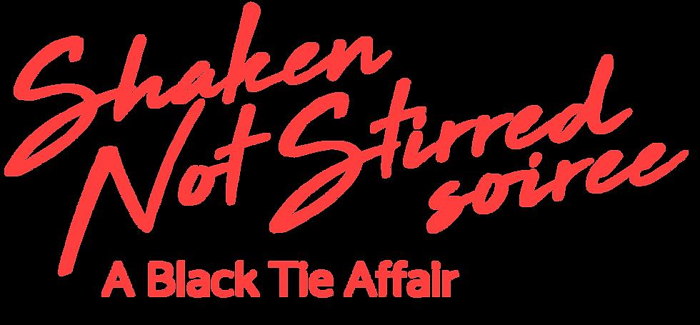 Shaken Not Stirred Soiree -A Black Tie Affair