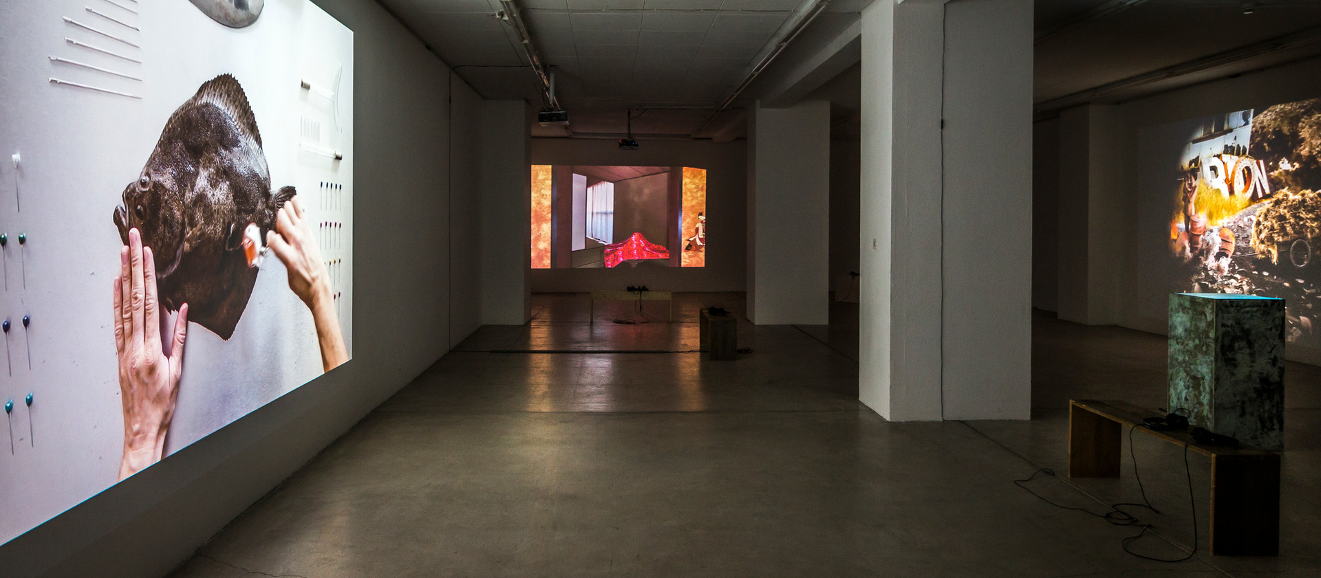 "Exhibition view ""BORDERLAND"", Kunstraum Klingental Basel"
