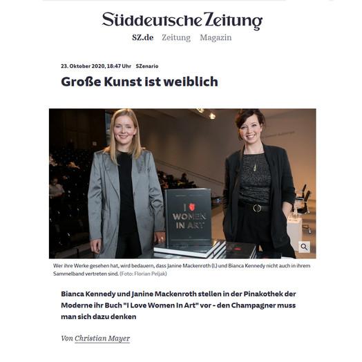 """Süddeutsche Zeitung – """"Große Kunst ist weiblich"""""""