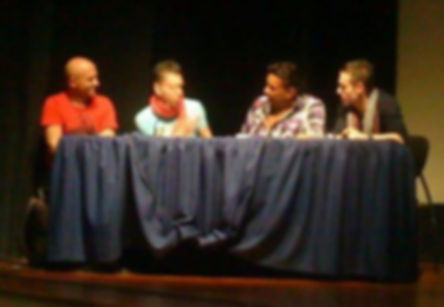 Dj Jonas Ribeiro com Johny Vasquez (príncipe da salsa, Los Angeles), Eddie Torres (rei da salsa, Nova Iorque) e Nuno Araújo (campeão nacionalde salsa em 2012, Braga)