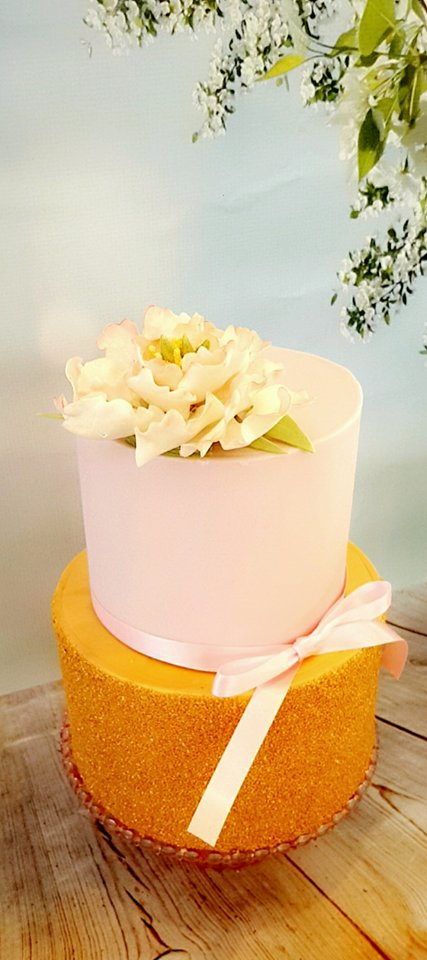 Peony Sharp Edge Cake Class Liverpool 2