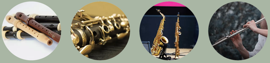 Recorder, Clarinet, Saxophone and Flute