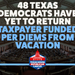 NEWS: 48 Texas Democrats Have Yet to Return Taxpayer Funded Per Diems from Vacation