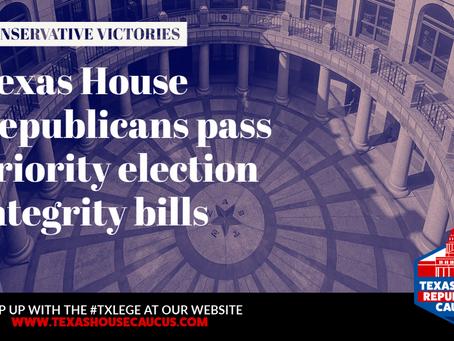 RECAP: HOUSE REPUBLICANS PASS PRIORITY ELECTION INTEGRITY BILLS