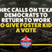 NEWS: THRC Calls on Texas Democrats To Return to Work to Give Foster Kids a Vote