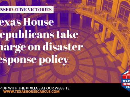 RECAP:  REPUBLICANS TAKE CHARGE ON DISASTER RESPONSE POLICY