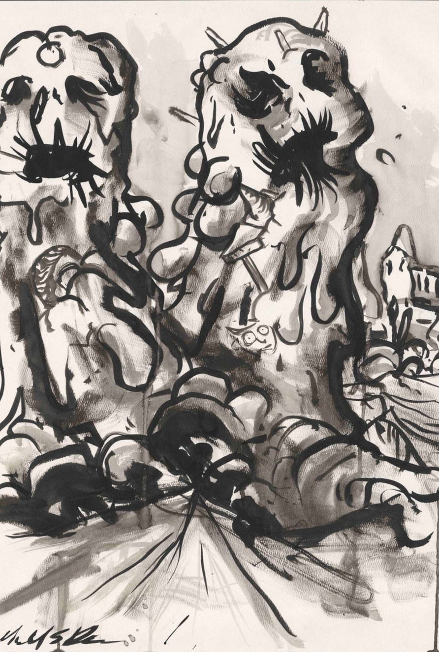 The Blob. Original artwork by Michael Br