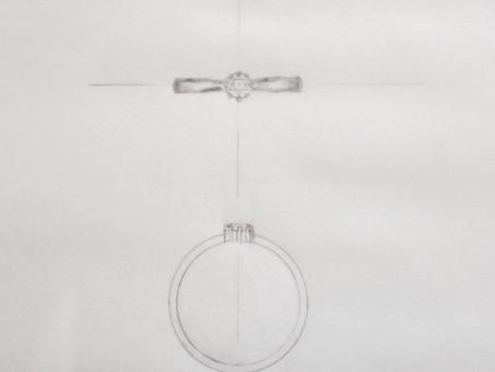 【ダイヤモンドプロポーズ】プロポーズに贈るダイヤモンドの指輪をご用命頂きました。