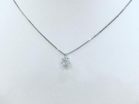 【オーダーメイドジュエリー製作例】シンプルな一粒ダイヤモンドのネックレス