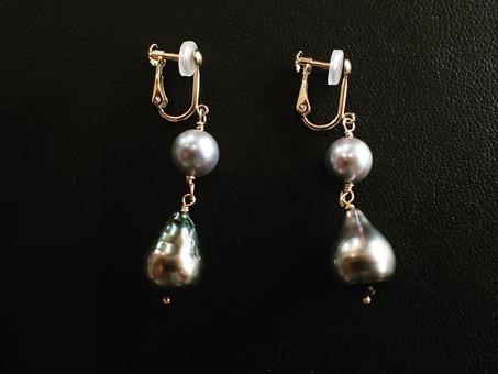 【ハンドメイドジュエリー】真珠のイヤリングをご用命頂きました