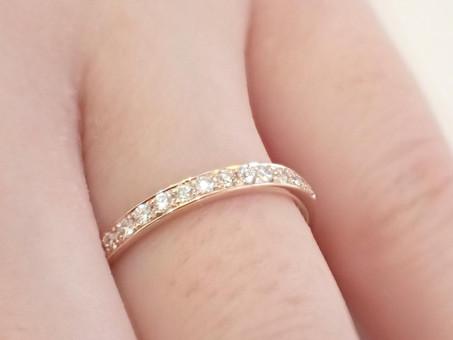 【No.12 ハーフエタニティの結婚指輪をお仕立て致しました】