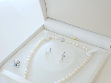【ジュエリーリフォーム製作例】あこや真珠のネックレスのメンテナンスとリフォームを行いました。