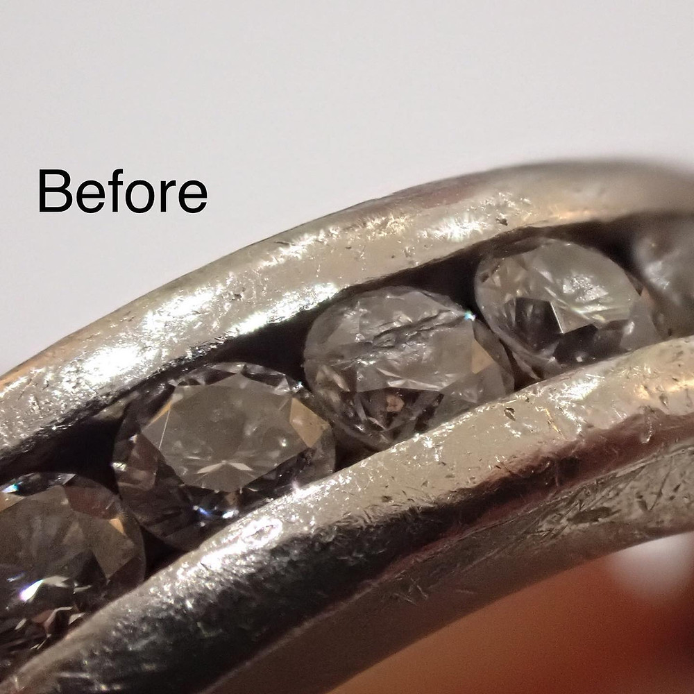 プラチナフルエタニティリング ダイヤモンドの指輪修理実例 エンゲージリング 婚約指輪 山形県山形市 宝石店 ジュエリーショップ アトリエジェムカフェ