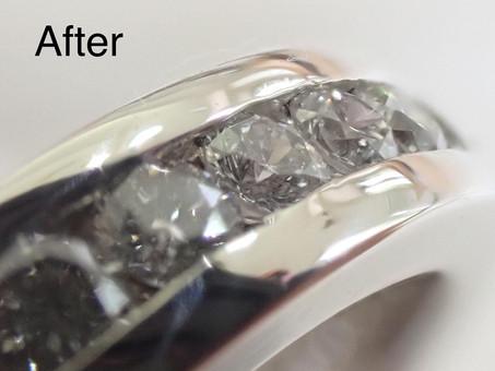 【指輪修理実例】フルエタニティリングのダイヤモンド交換&新品仕上げ