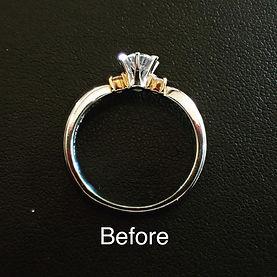 指輪のサイズ直し実例