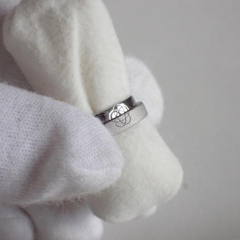 【オーダーメイド】重なると梅結びが完成する結婚指輪
