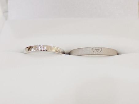 【No.9 重ねると梅結びが完成する結婚指輪】