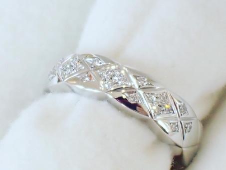 【オーダーメイドリング実例】ダイヤモンドのデザインリング